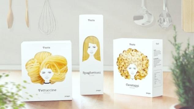embalagem de macarrão beleza das mulheres women beauty